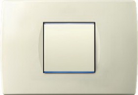Cover plate SOFT ivory white