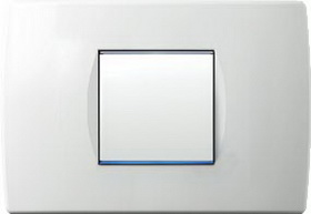 Cover plate SOFT polar white